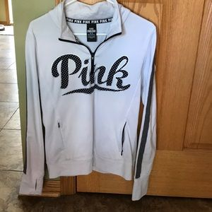 Pink pull over/ half zip sweater